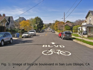 Bicycle Boulevard in San Luis Obispo, CA
